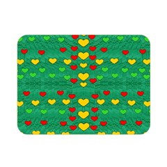 Love Is In All Of Us To Give And Show Double Sided Flano Blanket (mini)  by pepitasart