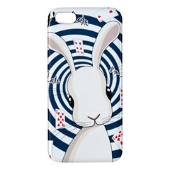 White Rabbit In Wonderland Apple Iphone 5 Premium Hardshell Case by Valentinaart