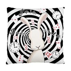 White Rabbit In Wonderland Standard Cushion Case (one Side) by Valentinaart