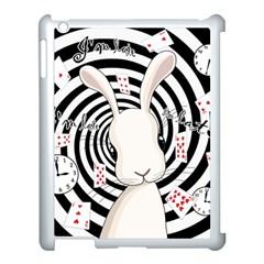 White Rabbit In Wonderland Apple Ipad 3/4 Case (white) by Valentinaart