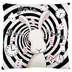 White Rabbit In Wonderland Standard Flano Cushion Case (one Side) by Valentinaart