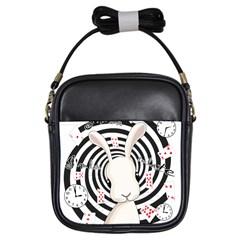 White Rabbit In Wonderland Girls Sling Bags by Valentinaart