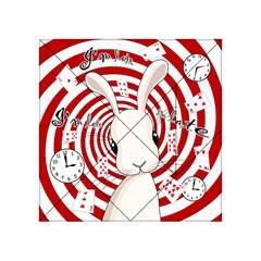 White Rabbit In Wonderland Acrylic Tangram Puzzle (4  X 4 ) by Valentinaart