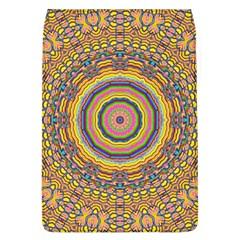 Wood Festive Rainbow Mandala Flap Covers (l)  by pepitasart
