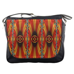 Geometric Extravaganza Pattern Messenger Bags by linceazul