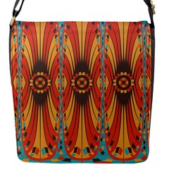 Geometric Extravaganza Pattern Flap Messenger Bag (s) by linceazul
