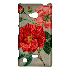 Flower Floral Background Red Rose Nokia Lumia 720 by Nexatart
