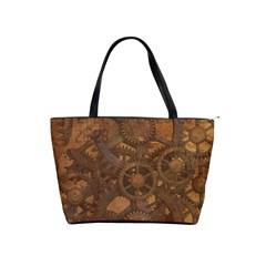 Background Steampunk Gears Grunge Shoulder Handbags by Nexatart