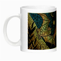 Bats Cubism Mosaic Vintage Night Luminous Mugs by Nexatart