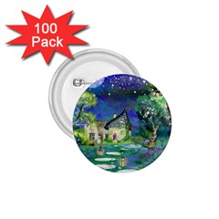Background Fairy Tale Watercolor 1 75  Buttons (100 Pack)  by Nexatart