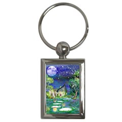 Background Fairy Tale Watercolor Key Chains (rectangle)  by Nexatart