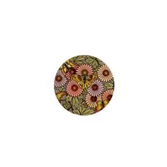Flower Butterfly Cubism Mosaic 1  Mini Buttons by Nexatart