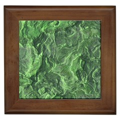 Green Geological Surface Background Framed Tiles by Nexatart