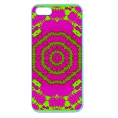 Fern Forest Star Mandala Decorative Apple Seamless Iphone 5 Case (color) by pepitasart
