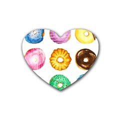 Donuts Rubber Coaster (heart)  by KuriSweets