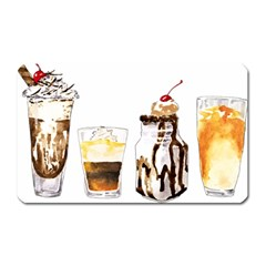 Coffee And Milkshakes Magnet (rectangular) by KuriSweets
