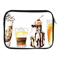 Coffee And Milkshakes Apple Ipad 2/3/4 Zipper Cases by KuriSweets
