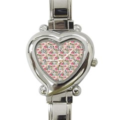 Cute Floral 218a Heart Italian Charm Watch by MoreColorsinLife