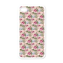 Cute Floral 218a Apple Iphone 4 Case (white) by MoreColorsinLife
