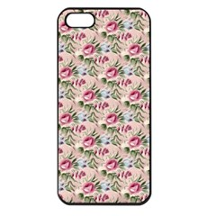 Cute Floral 218a Apple Iphone 5 Seamless Case (black) by MoreColorsinLife