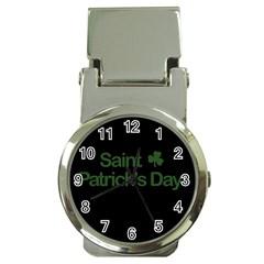 St  Patricks Day  Money Clip Watches by Valentinaart