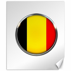 Belgium Flag Country Brussels Canvas 8  X 10  by Nexatart