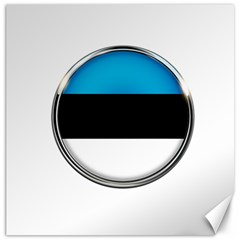 Estonia Country Flag Countries Canvas 12  X 12   by Nexatart