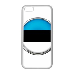 Estonia Country Flag Countries Apple Iphone 5c Seamless Case (white) by Nexatart