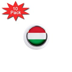 Hungary Flag Country Countries 1  Mini Magnet (10 Pack)  by Nexatart