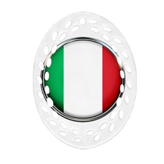 Italy Country Nation Flag Oval Filigree Ornament (two Sides) by Nexatart