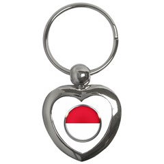 Monaco Or Indonesia Country Nation Nationality Key Chains (heart)  by Nexatart