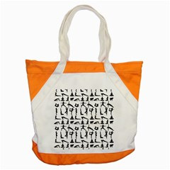 Yoga Pattern Accent Tote Bag by Valentinaart