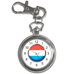 Luxembourg Nation Country Red Key Chain Watches by Nexatart