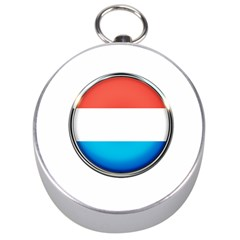 Luxembourg Nation Country Red Silver Compasses by Nexatart