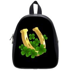 St  Patricks Day  School Bag (small) by Valentinaart
