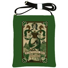 St  Patricks Day  Shoulder Sling Bags by Valentinaart