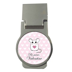 Cute Mouse   Valentines Day Money Clips (round)  by Valentinaart