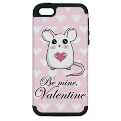 Cute Mouse   Valentines Day Apple Iphone 5 Hardshell Case (pc+silicone) by Valentinaart