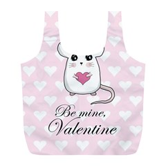 Cute Mouse   Valentines Day Full Print Recycle Bags (l)  by Valentinaart