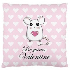 Cute Mouse   Valentines Day Standard Flano Cushion Case (one Side) by Valentinaart