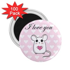 Cute Mouse   Valentines Day 2 25  Magnets (100 Pack)  by Valentinaart