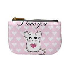Cute Mouse   Valentines Day Mini Coin Purses by Valentinaart