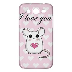 Cute Mouse   Valentines Day Samsung Galaxy Mega 5 8 I9152 Hardshell Case  by Valentinaart