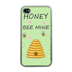 Bee Mine Valentines Day Apple Iphone 4 Case (clear) by Valentinaart