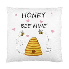 Bee Mine Valentines Day Standard Cushion Case (one Side) by Valentinaart
