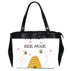 Bee Mine Valentines Day Office Handbags (2 Sides)  by Valentinaart