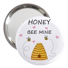 Bee Mine Valentines Day 3  Handbag Mirrors by Valentinaart