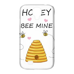 Bee Mine Valentines Day Samsung Galaxy S4 Classic Hardshell Case (pc+silicone) by Valentinaart