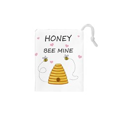 Bee Mine Valentines Day Drawstring Pouches (xs)  by Valentinaart