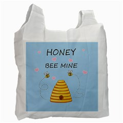 Bee Mine Valentines Day Recycle Bag (one Side) by Valentinaart